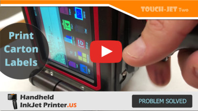 TouchJet Handheld Inkjet Product Labels Box Printer–Packaging and Labeling