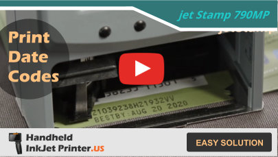 How to Stamp Best By Date with Handheld Inkjet Printer Video –Packaging Technology