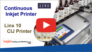 Linx 10 CIJ Continuous Inkjet Printer Video – Packaging Technology