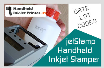 jetStamp Handheld [Inkjet Printer Best By Date Stamp and Date Coder Packaging Industry
